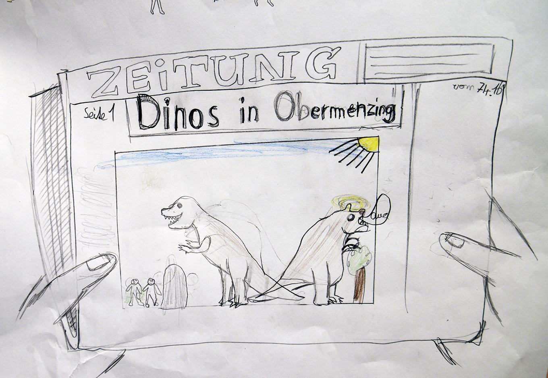 Dino in Obermenzing von Moritz